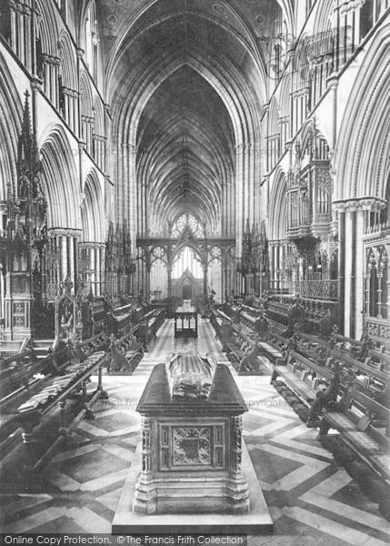 Photo of Worcester, The Cathedral, Choir West 1891