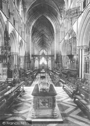Worcester, The Cathedral, Choir West 1891