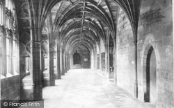 Worcester, The Cathedral Cloisters 1891