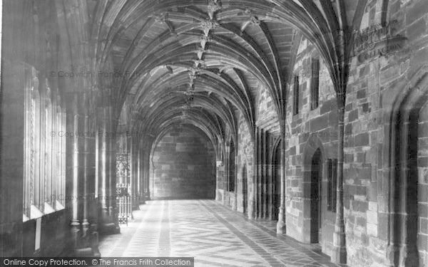 Photo of Worcester, The Cathedral Cloisters c.1960