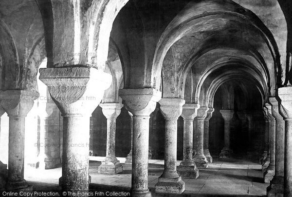 Photo of Worcester, The Cathedral Crypt 1893