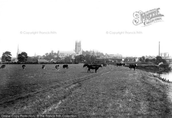 Photo of Worcester, The Cathedral From The River 1891