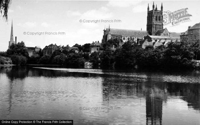 Photo of Worcester, The Cathedral From The River c.1960