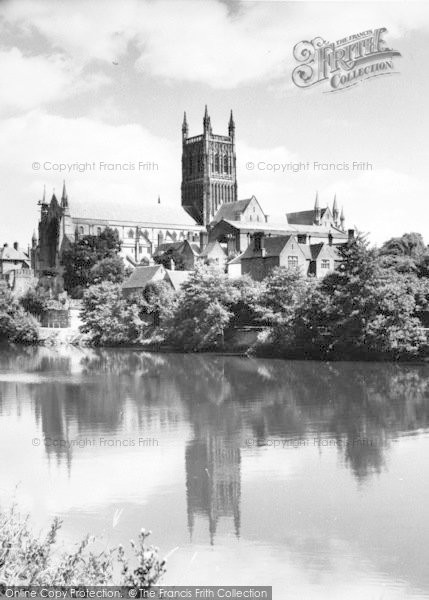 Photo of Worcester, The Cathedral From The River c.1965