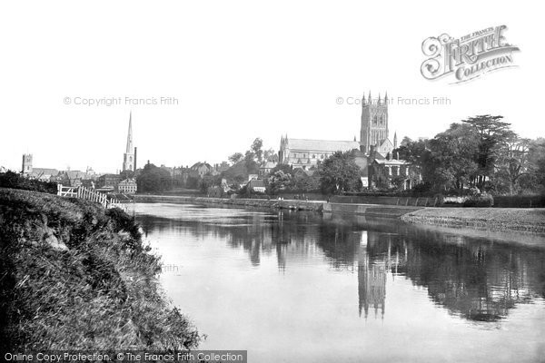 Photo of Worcester, The Cathedral From The River Severn 1891