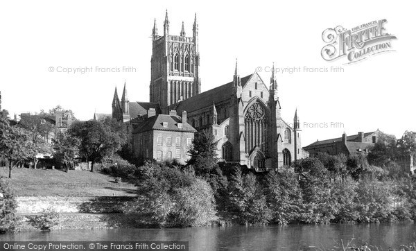 Photo of Worcester, The Cathedral From The River Severn c.1960