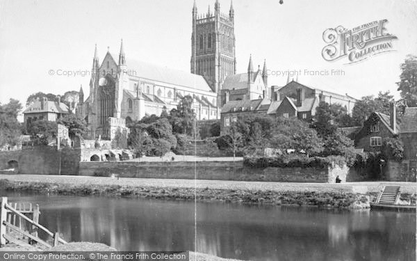 Photo of Worcester, The Cathedral From The South West c.1866