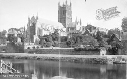 Worcester, The Cathedral From The South West c.1866