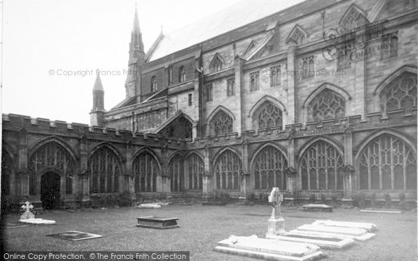 Photo of Worcester, The Cathedral Garth c.1960
