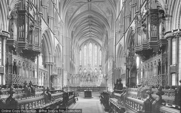 Photo of Worcester, The Cathedral Interior, Choir East 1925