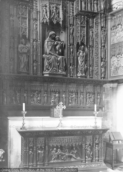 Photo of Worcester, The Cathedral Interior, The Altar Of The Jesus Chapel c.1960