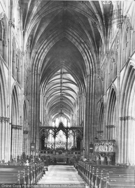Photo of Worcester, The Cathedral Interior, The Choir And Screen c.1949