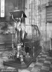 Worcester, The Cathedral Interior, The Lectern 1906