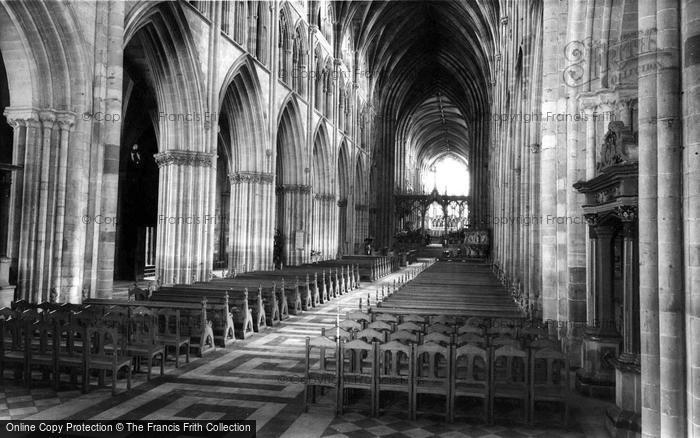 Photo of Worcester, The Cathedral Interior, The Nave c.1965