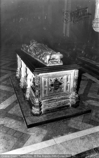 Photo of Worcester, The Cathedral, King John's Tomb c.1965