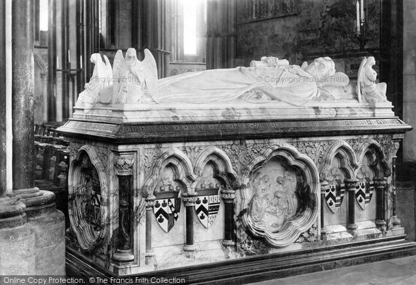 Photo of Worcester, The Cathedral, Lyttleton Monument 1892