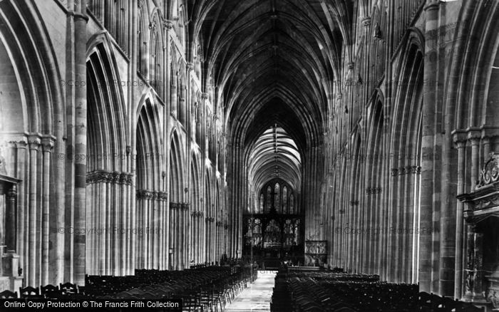 Photo of Worcester, The Cathedral, Nave c.1875