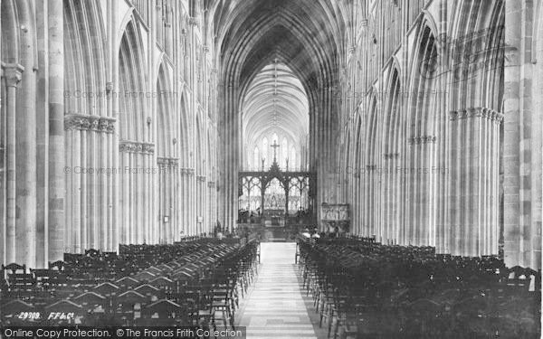 Photo of Worcester, The Cathedral, Nave East 1891