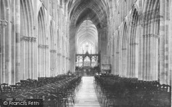 Worcester, The Cathedral, Nave East 1891