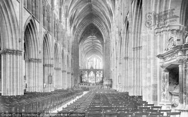 Photo of Worcester, The Cathedral, Nave East 1906