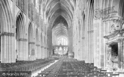 Worcester, The Cathedral, Nave East 1906