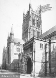 Worcester, The Cathedral, North Porch 1907