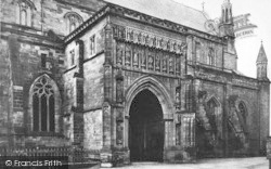 Worcester, The Cathedral, North Porch c.1869