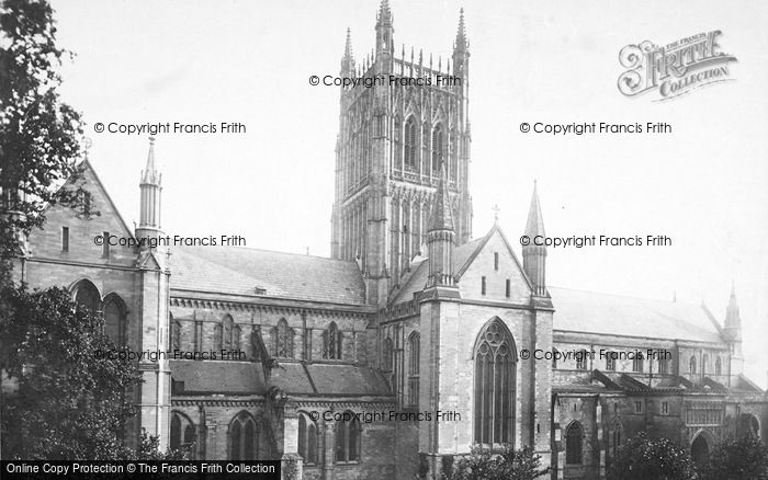 Photo of Worcester, The Cathedral, North Side 1893