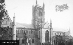 Worcester, The Cathedral, North Side 1893