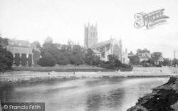 Worcester, The Cathedral, North West 1892