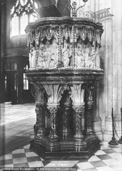 Photo of Worcester, The Cathedral Pulpit (Front) 1893
