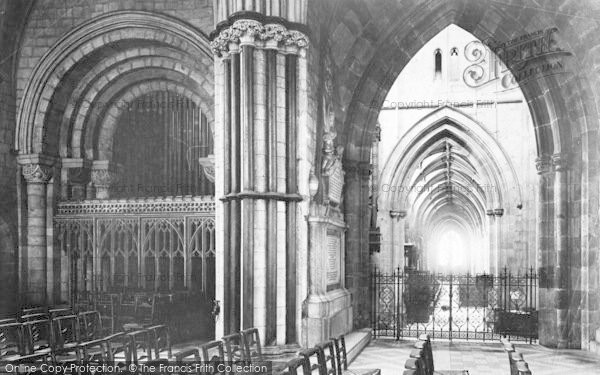 Photo of Worcester, The Cathedral, Side Chapel 1893