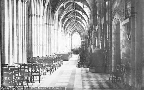 Photo of Worcester, The Cathedral, South Aisle Nave 1891