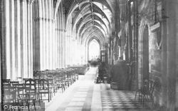 Worcester, The Cathedral, South Aisle Nave 1891