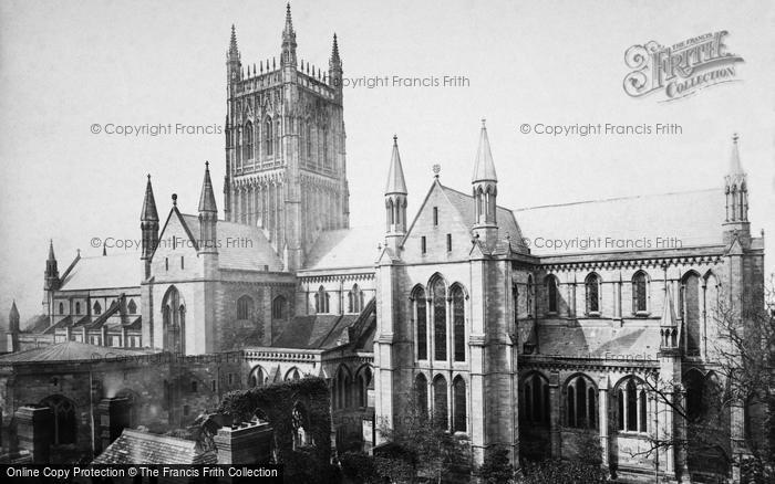 Photo of Worcester, The Cathedral, South East c.1869