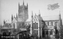 Worcester, The Cathedral, South East c.1869