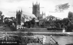 Worcester, The Cathedral, South West 1891