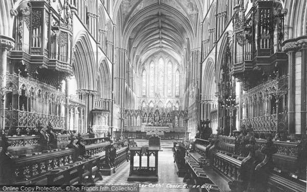 Photo of Worcester, The Cathedral, The Choir East 1899