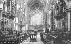 Worcester, The Cathedral, The Choir East 1899