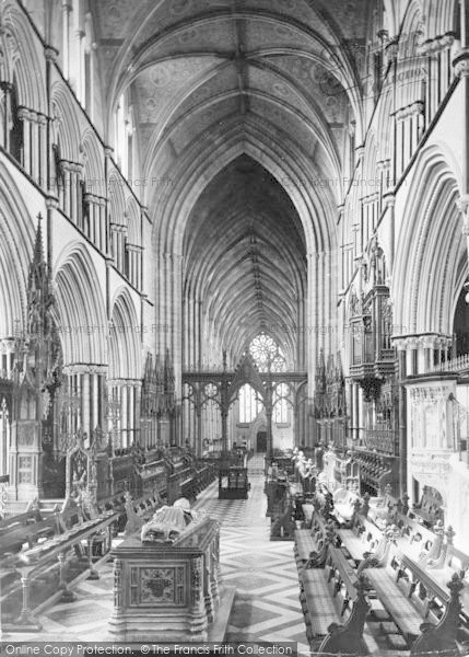 Photo of Worcester, The Cathedral, The Choir Looking West c.1910