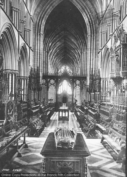 Photo of Worcester, The Cathedral, The Choir West 1891
