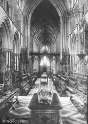 Worcester, The Cathedral, The Choir West 1891
