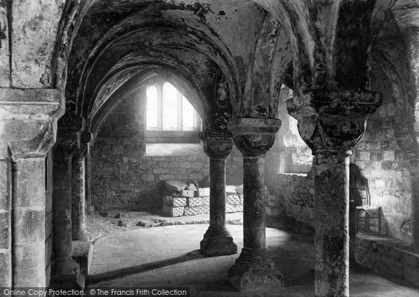 Photo of Worcester, The Cathedral, The Crypt 1893