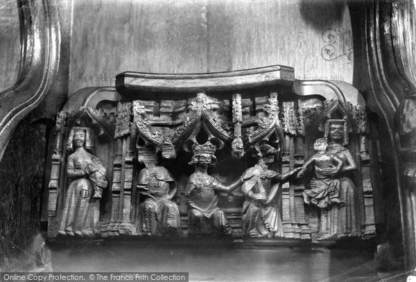 Photo of Worcester, The Cathedral, The Miserere Seat 'judgement  Of Solomon' 1907