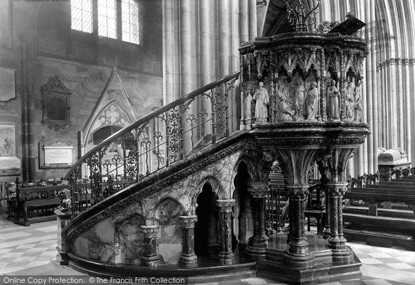 Photo of Worcester, The Cathedral, The Pulpit 1893