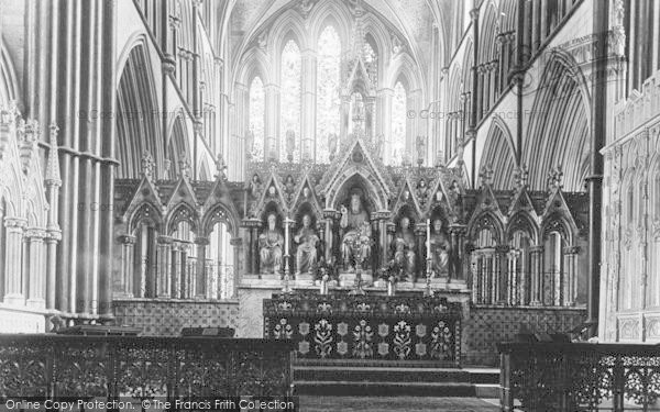 Photo of Worcester, The Cathedral, The Reredos 1893