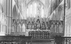 Worcester, The Cathedral, The Reredos 1893