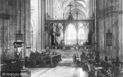 Worcester, The Cathedral, The Screen 1906
