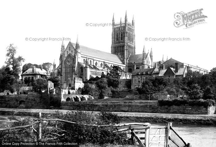 Photo of Worcester, The Cathedral, West Front 1891