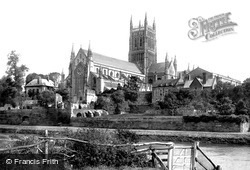Worcester, The Cathedral, West Front 1891